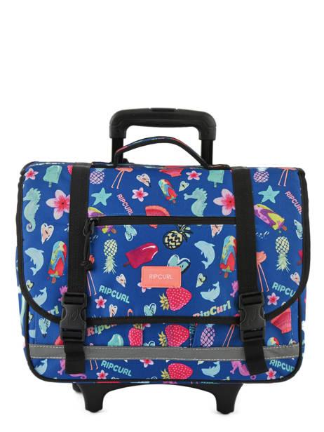 Wheeled Schoolbag 2 Compartments Rip curl Blue summer time LBPQB4