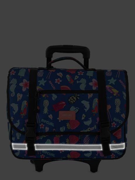 Wheeled Schoolbag 2 Compartments Rip curl Blue summer time LBPQB4 other view 5