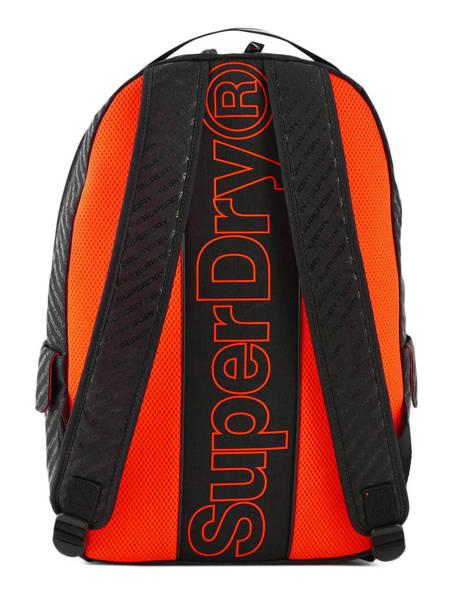 Sac à Dos Hollow Montana 1 Compartiment Superdry Noir backpack men M91600MU vue secondaire 4