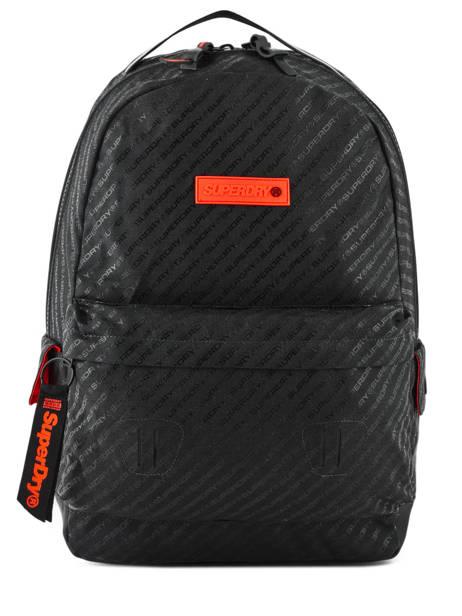 Sac à Dos Hollow Montana 1 Compartiment Superdry Noir backpack men M91600MU