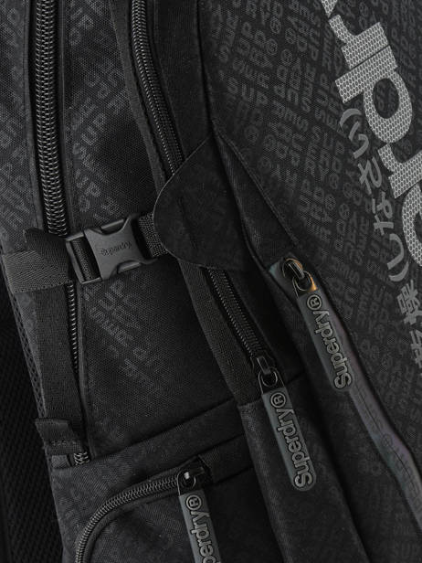 Backpack 2 Compartments + 15'' Pc Superdry Black backpack men M91500MU other view 1