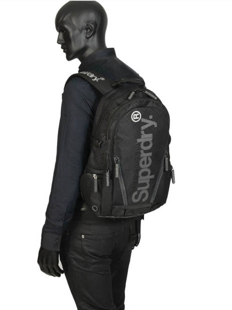 Backpack 2 Compartments + 15'' Pc Superdry Black backpack men M91500MU other view 3