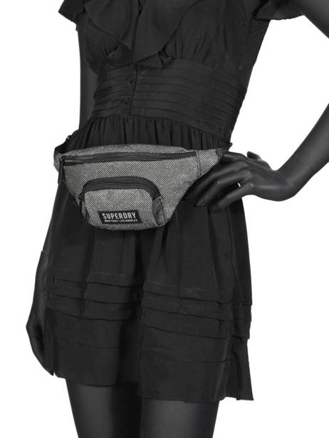 Fanny Pack Glitter Mesh Superdry Gray accessories woomen G91901JT other view 2