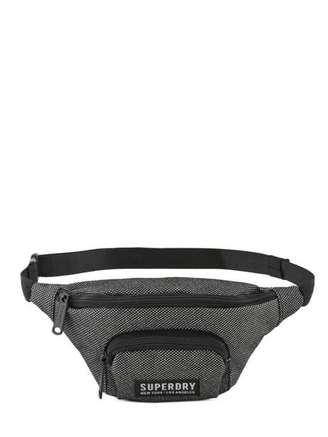 Fanny Pack Glitter Mesh Superdry Gray accessories woomen G91901JT