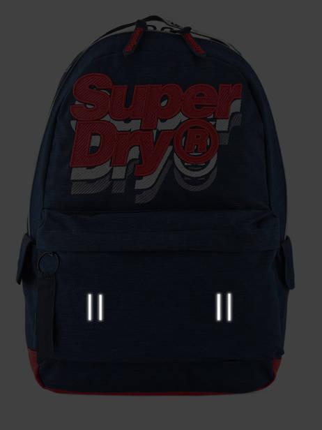 Sac à Dos 1 Compartiment Superdry Bleu backpack men M91801MU vue secondaire 6