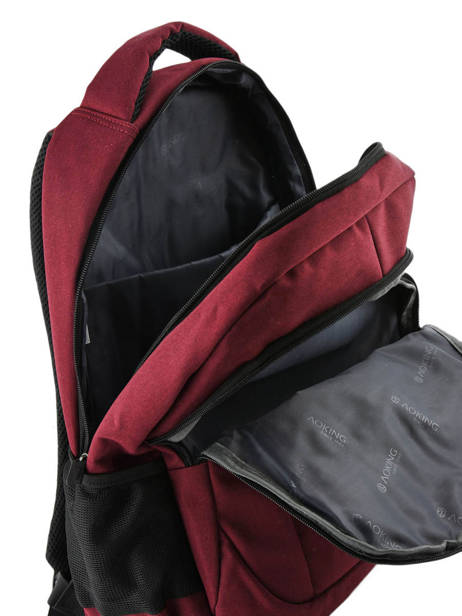 Backpack 2 Compartments Miniprix Red fac FN86137 other view 3