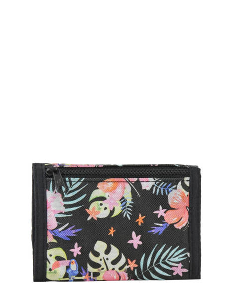 Wallet Leather Rip curl Black toucan flora LWULE4 other view 1
