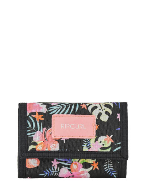 Wallet Leather Rip curl Black toucan flora LWULE4