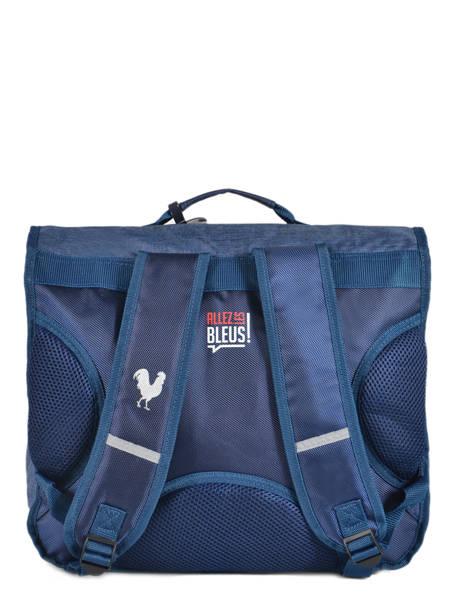 Satchel 2 Compartments With Free Pencil Case Allez les bleus Blue world cup ALB12309 other view 3