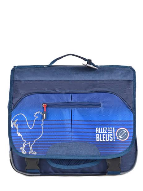 Satchel 2 Compartments With Free Pencil Case Allez les bleus Blue world cup ALB12309
