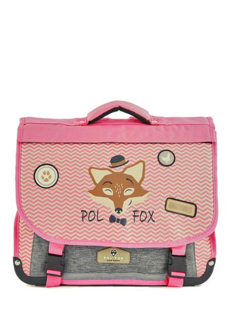 Cartable 2 Compartiments Réversible Pol fox Rose fille F-CA38R