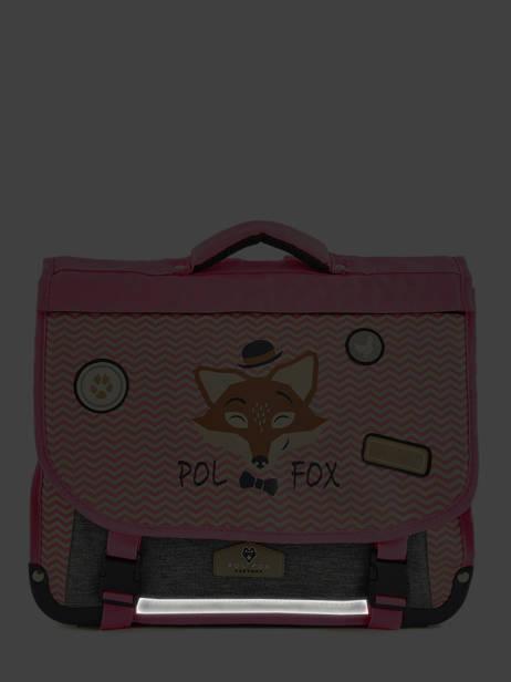 Cartable 2 Compartiments Réversible Pol fox Rose fille F-CA38R vue secondaire 6