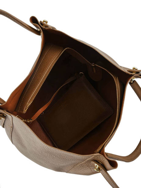 Shoulder Bag Foulonne Double Leather Lancaster Brown foulonne double 470-21 other view 4