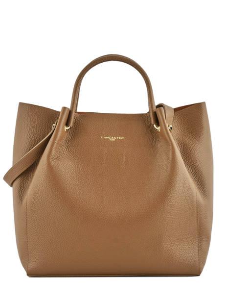 Shoulder Bag Foulonne Double Leather Lancaster Brown foulonne double 470-21