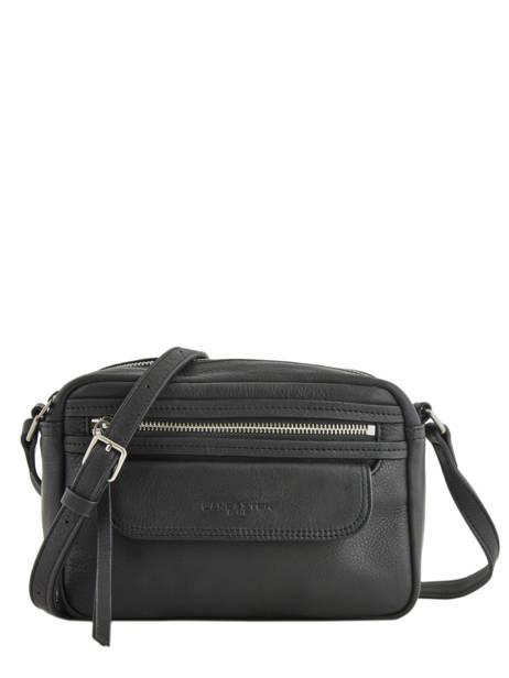 Shoulder Bag  Leather Lancaster Black 578-92