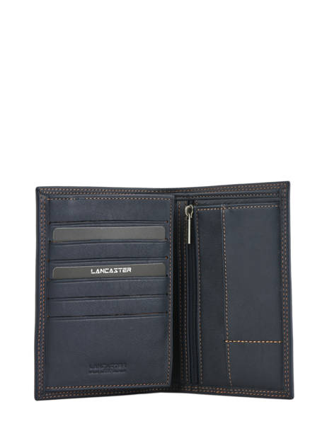 Wallet Leather Lancaster Blue soft vintage homme 120-13 other view 1