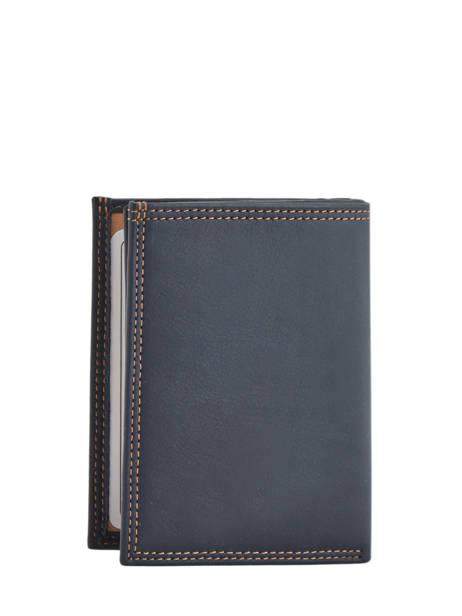 Portefeuille Cuir Lancaster Bleu soft vintage homme 120-12 vue secondaire 2