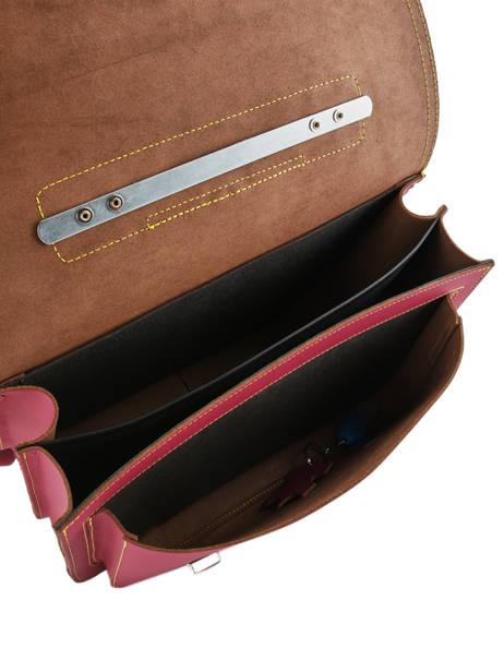 Cartable 2 Compartiments Own stuff Rose satchel OS048 vue secondaire 5