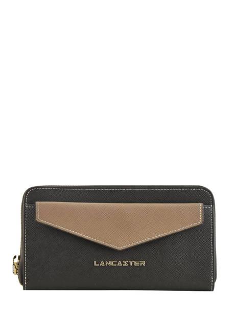 Portefeuille Cuir Lancaster Noir signature 127-04