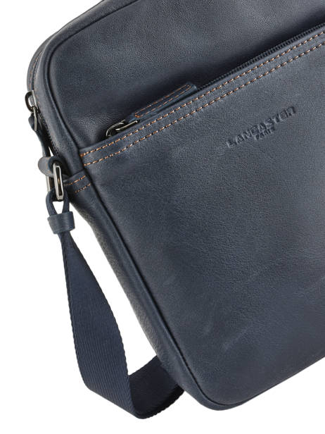 Crossbody Bag Lancaster Blue soft vintage homme 320-14 other view 1
