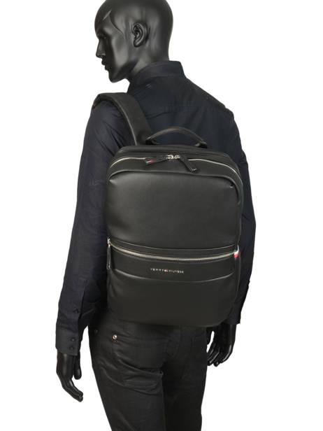 Backpack 13'' Laptop Tommy hilfiger Black novelty mix AM04888 other view 2