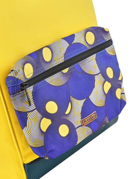Customisable Backpack Cabaia Yellow tour du monde BAGS other view 2