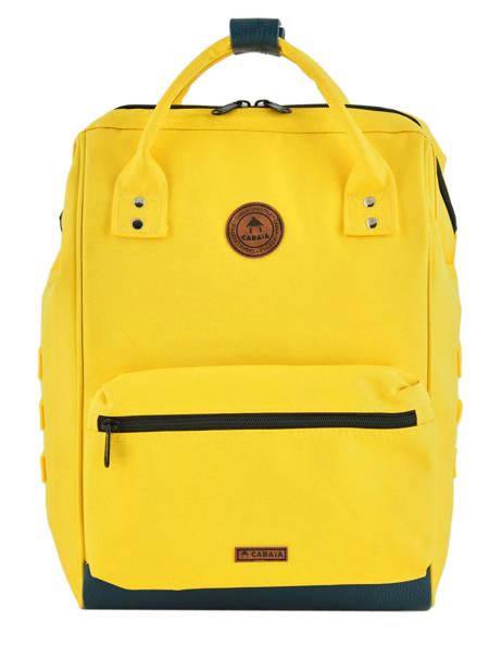 Customisable Backpack Cabaia Yellow tour du monde BAGS