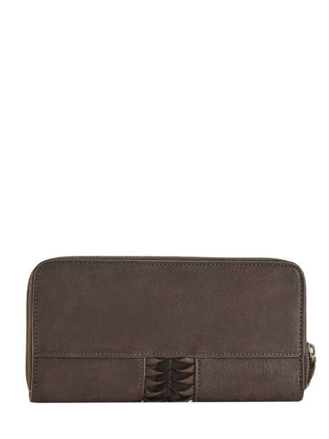 Leather Wallet Natte Etrier Brown natte ENTT91 other view 1