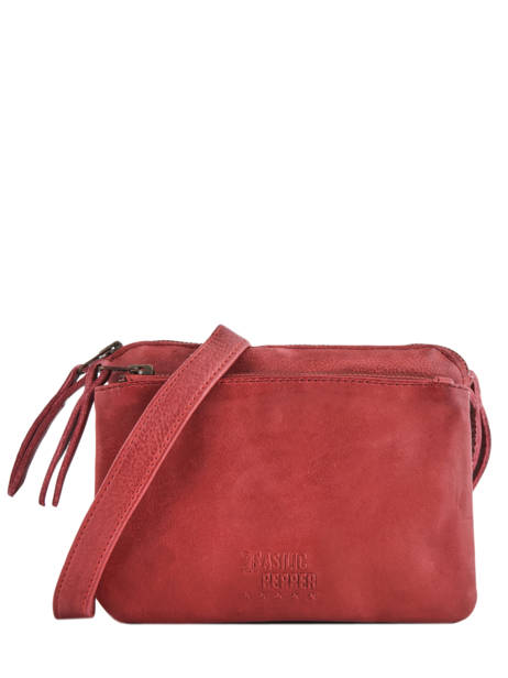 Shoulder Bag Cow Leather Basilic pepper Red cow BCOW28
