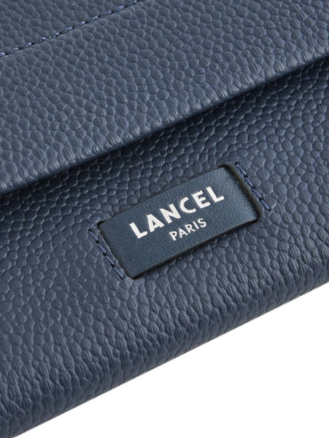 Slim Leather Wallet Ninon Lancel Blue ninon A09986 other view 1