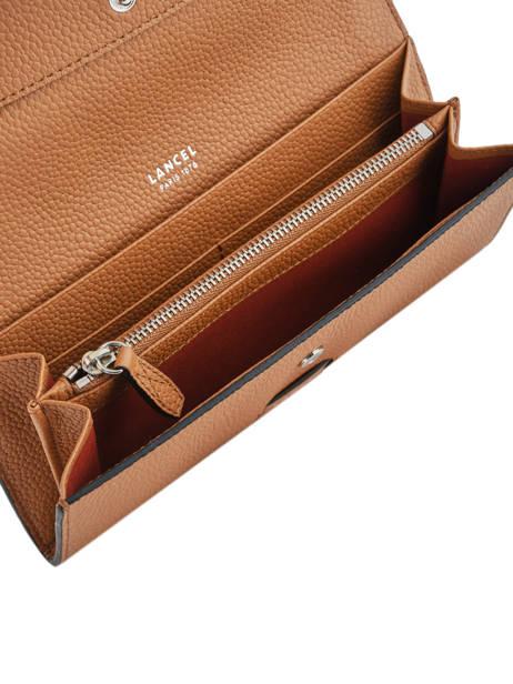 Slim Leather Wallet Ninon Lancel Brown ninon A09986 other view 3