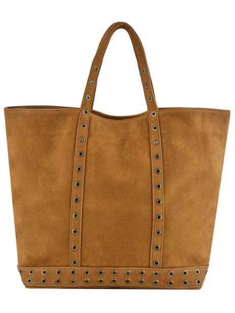 Medium Tote Bag Le Cabas Suede Leather Vanessa bruno Brown cabas cuir 22V40414
