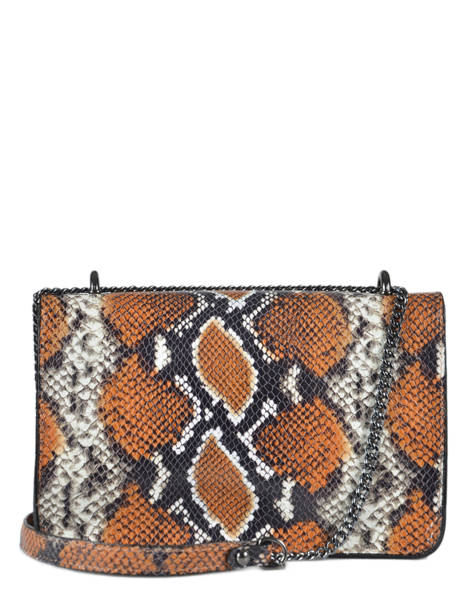 Crossbody Bag Python Milano Brown python PI19031 other view 3