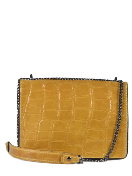 Shoulder Bag River Leather Milano Yellow river RI18062 other view 3