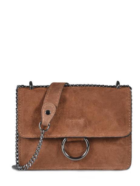 Shoulder Bag Velvet Milano Brown velvet VE17111