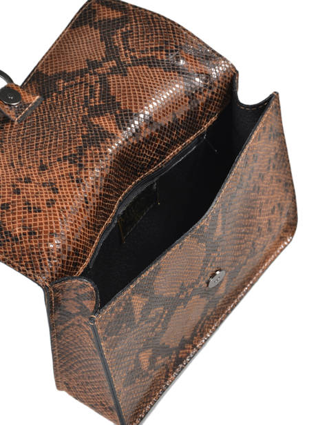 Shoulder Bag Python Milano Brown python PI180602 other view 3