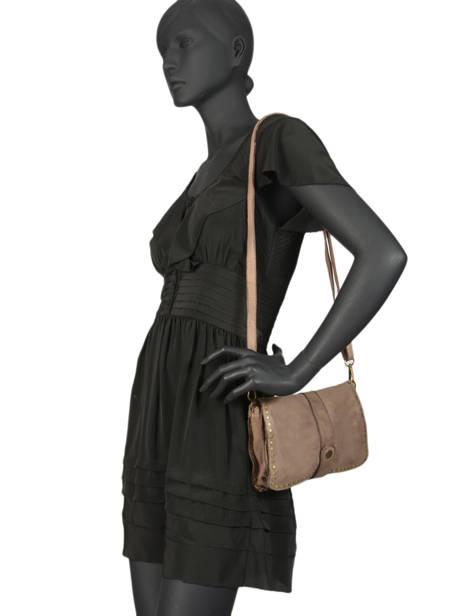 Shoulder Bag Dewashed Leather Milano Gray dewashed DE17111 other view 1