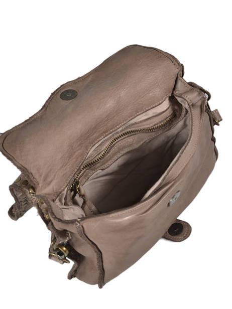 Shoulder Bag Dewashed Leather Milano Gray dewashed DE17111 other view 3