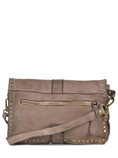 Shoulder Bag Dewashed Leather Milano Gray dewashed DE17111 other view 2