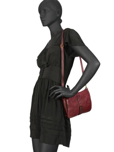 Shoulder Bag Dewashed Leather Milano Red dewashed DE17111 other view 1