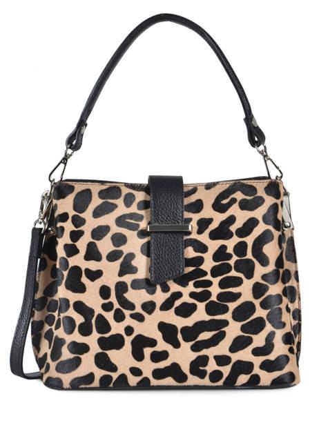 Shoulder Bag Africa Leather Milano Beige africa AF19061