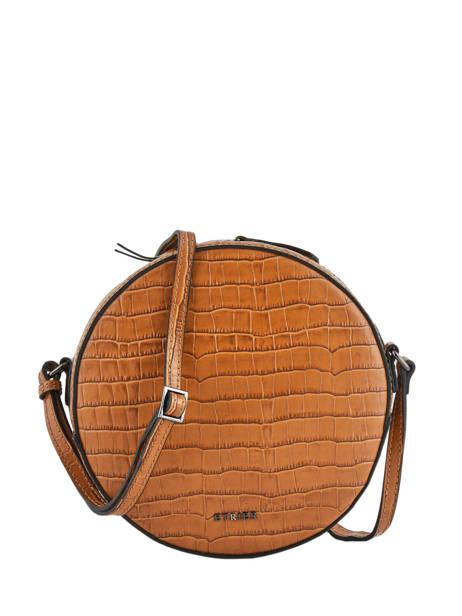 Medium Shoulder Bag Darwin Leather Etrier Brown darwin EDAR08