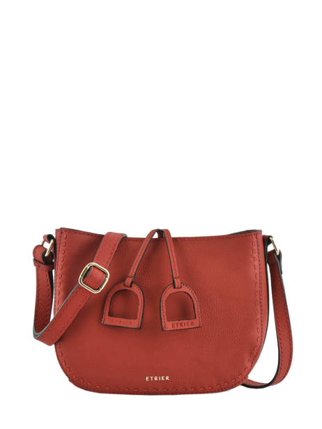 Sac Bandoulière Tradition Cuir Etrier Rouge tradition EHER3A