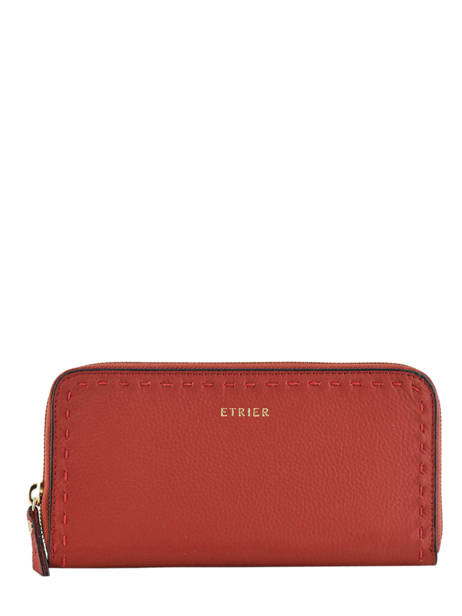 Portefeuille Cuir Etrier Rouge tradition EHER91