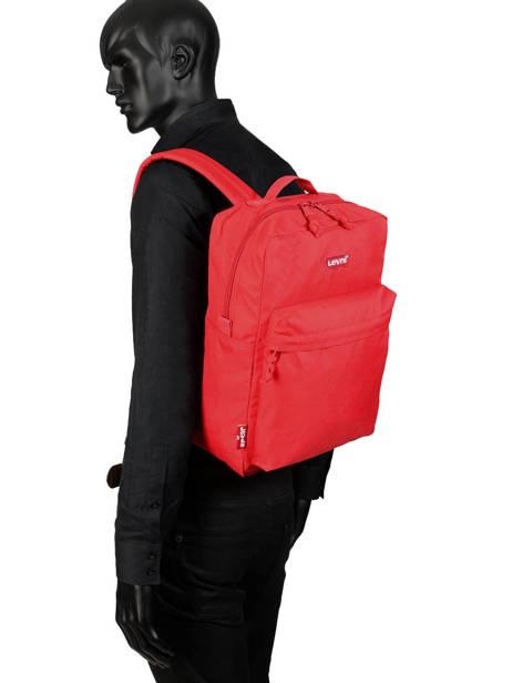 Sac à Dos 1 Compartiment + Pc 15'' Levi's Rouge l pack 230870 vue secondaire 2