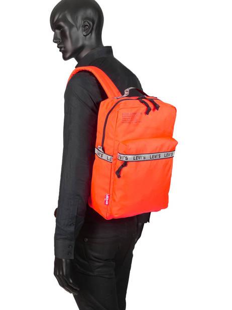 Sac à Dos 1 Compartiment + Pc 15'' Levi's Orange l pack 230809 vue secondaire 2