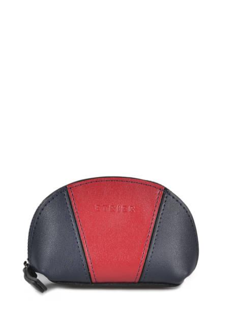 Leather Escarpe Purse Etrier Blue escarpe EESC92