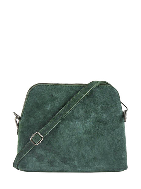 Shoulder Bag Velvet Leather Milano Green velvet VE19041 other view 2
