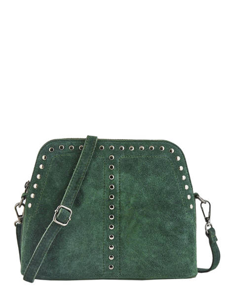 Shoulder Bag Velvet Leather Milano Green velvet VE19041