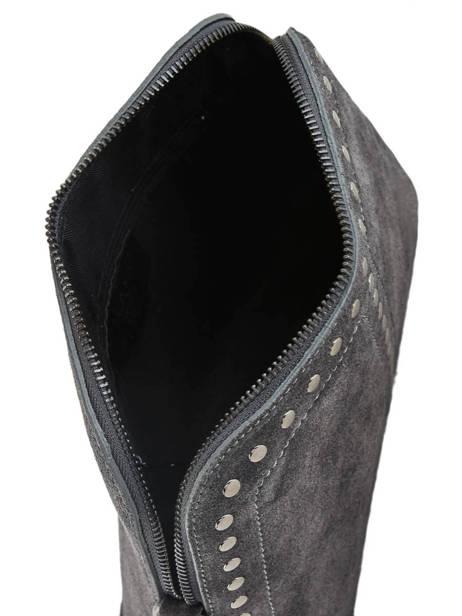 Shoulder Bag Velvet Leather Milano Gray velvet VE19041 other view 3
